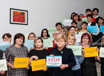 Femeile din FSCRE susțin Campania naţională de combatere a violenţei