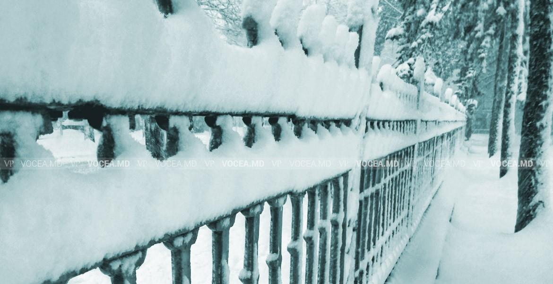 Я шел по грустному парку … В Кишиневе идет снег. Фотография