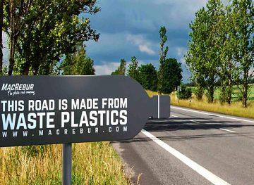 Plastic la construcția drumurilor