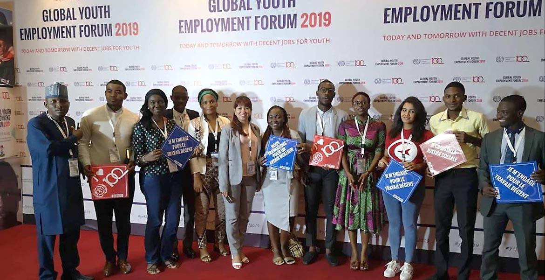Молодые профсоюзники на глобальном форуме занятости рабочей силы