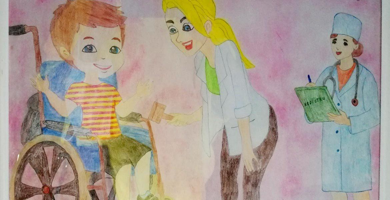 Дети благодарят врачей, находящихся на передовой борьбы с COVID-19