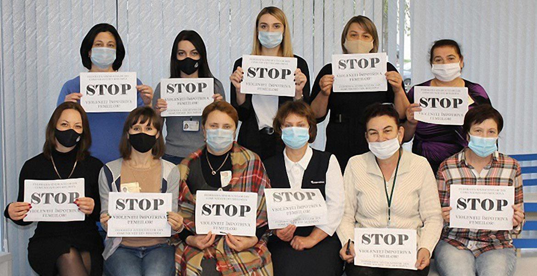Sindicatele din Moldova combat violența împotriva femeilor
